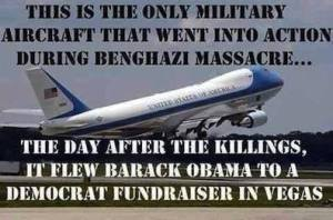 Benghazi Airfoce 1 to NV fundraiser