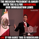 Mexico Pres angry with U.S.