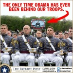 Obama Behind the troops pic