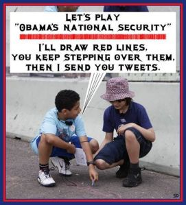 Obama Poster drawing imaginary border lines
