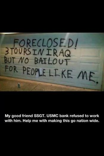 Foreclosed 3 tours Iraq no bail out for me