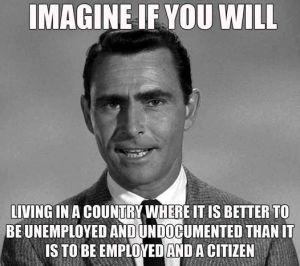 Imagine if you will living in a country is