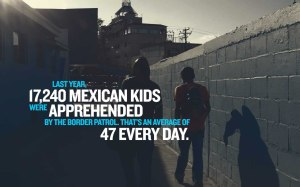 Last year 17,240 Mexican Kids apprehended