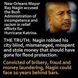 Mayor Nagin accused of but was the one doing it