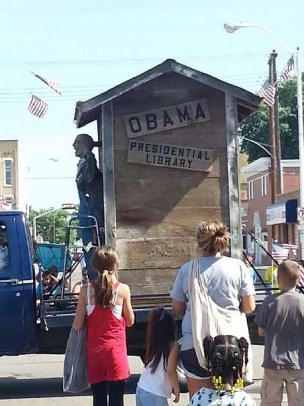 Obama Outhouse Float