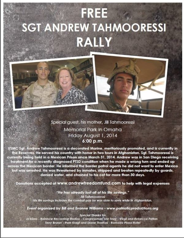Omaha Rally Tahmooressi Press Release 8 1 2014