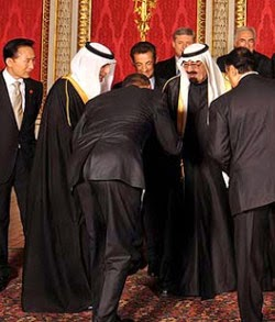 President Obama bowing to Arabs