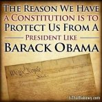 The reason we have a consitution is to protect us from obama