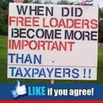 When did freeloaders more impor taxpayers