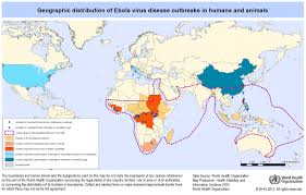 EBOLA MAP of Outbreaks