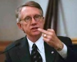 Harry Reid Flipping Middle Finger