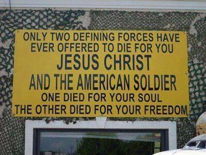 two died for you Jesus-American SOldier