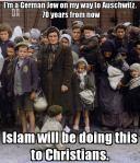 I'm a Jew to Auschwitz Hamas will to Christians