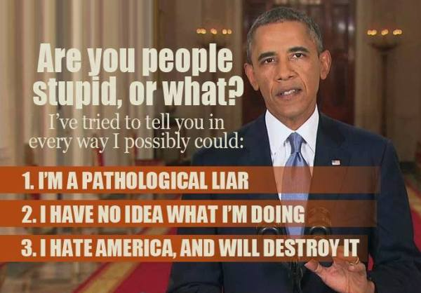 OBAMA ARE YOU PEOPLE STUPID OR WHAT