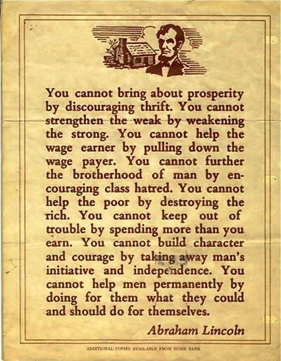 Quote by Abraham Lincoln Socialism