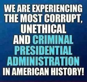 The most unethical corrupt president