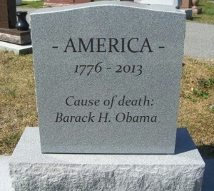Tombstone Death of America Obama