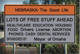 Nebraska Lots of Free Stuff billboard
