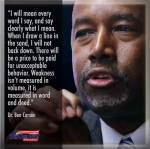 Ben Carson I mean every word I say