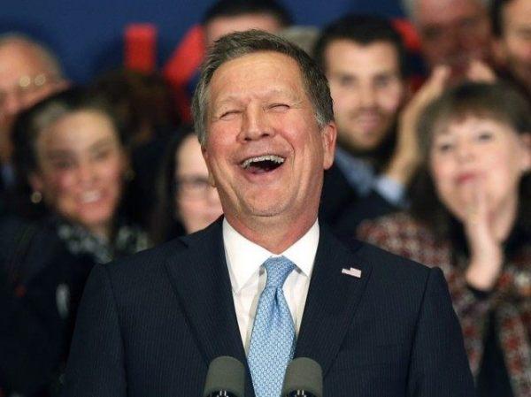 John Kasich laughing